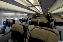 The Air France A340 business class cabin