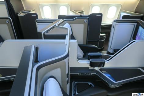 The British Airways 787-9 First Class cabin
