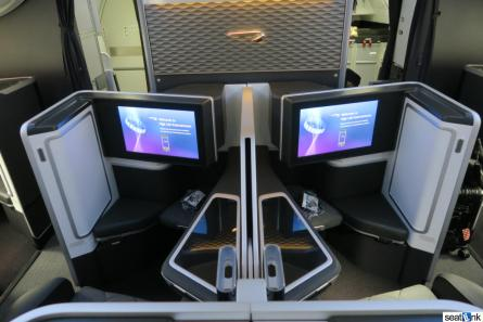 Forward view of seats 1E and 1F on British Airways 787-9