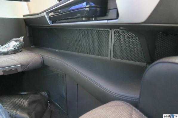 You can see here how you get more room for sleeping compared to the old BA first class seats