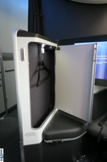 The first class closet -- updated design for British Airways