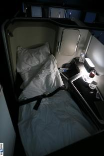Sleepy time! Very comfortable sleep for me in these new first class seats on British Airways