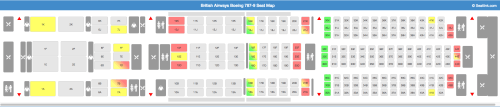 British Airways 787-9 Seat Map