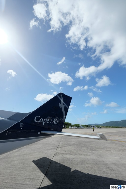 Walking to the Cape Air Cessna in St Thomas