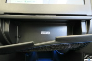 """I call this the """"glovebox"""" storage space"""