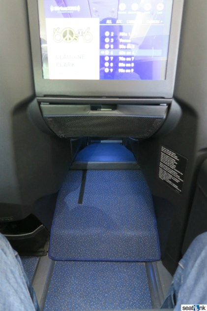 The footrest/footwell area