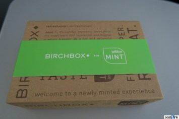 The JetBlue Mint amenity kit, from Birchbox