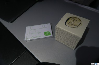 The gift cards and chocolates