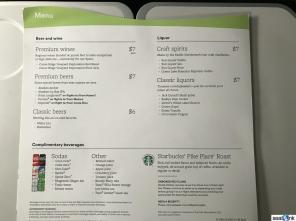 Alaska's soft drinks and alcohol options, free in Premium Class
