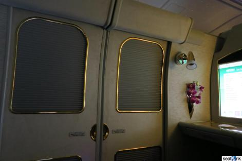Alone at last in my Emirates first class suite
