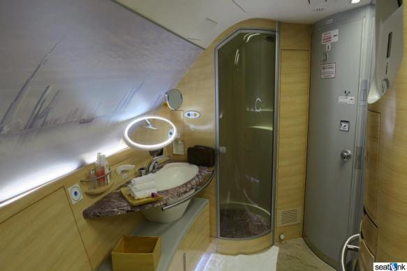 The Emirates A380 first class shower suite