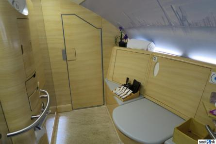 The huge Emirates first class bathroom