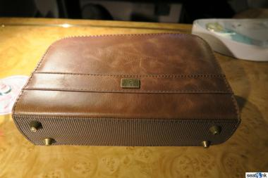 Emirates first class amenity kit by Bulgari
