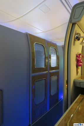 Here's what the suites look like with their doors closed