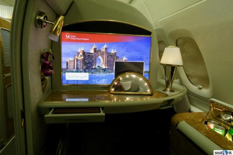 """The Emirates first class 24"""" video screen"""