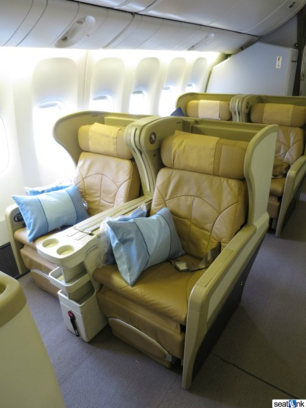 The Singapore 777-200 business class seats