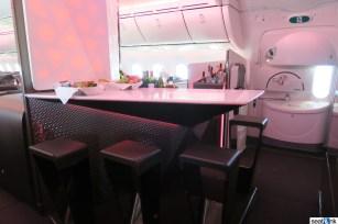 The 787 onboard bar for Upper Class passengers