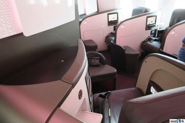 Seat 1G in Upper Class on Virgin Atlantic's 787-9