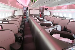 The Upper Class cabin on Virgin Atlantic's 787