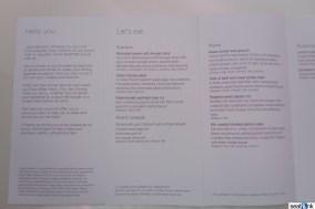 Virgin Atlantic Upper Class menu
