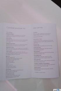 Virgin Atlantic Upper Class cocktail menu