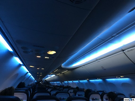 Alaska Airlines Mood lighting