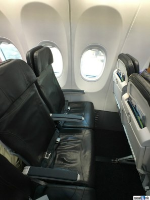 Typical Alaska Airlines Legroom