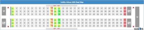 IndiGo A320 Seating Chart