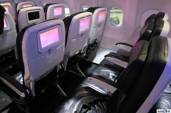 Typical Virgin America Legroom