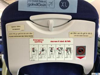 IndiGo A320 seatback row 13