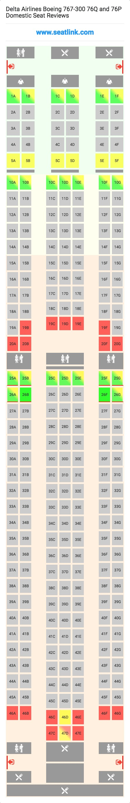 Boeing 767 300 Seat Map Delta | Wallseat.co on