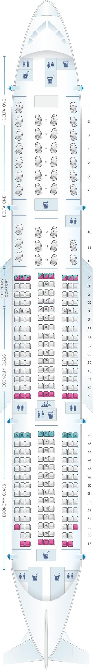 boeing 777 200lr jet seating chart. Black Bedroom Furniture Sets. Home Design Ideas