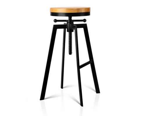 Adjustable Height Industrial Bar Stool