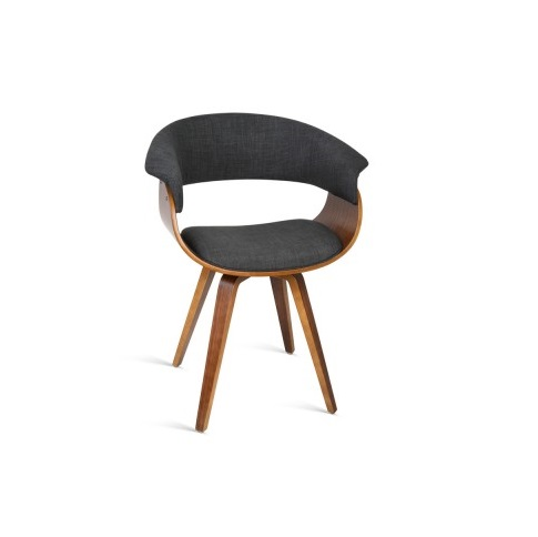 wood and fabric dining chairs