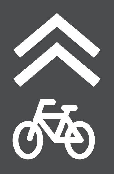Example of a sharrow