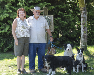 Here's Team Ewe-topia, with owners Linda Leeman and Joe Kapelos and their working dogs.