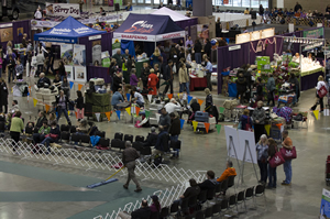 The back-to-back shows attract large crowds and a wide mix of vendors, in addition to conformation, agility, obedience and rally competition.