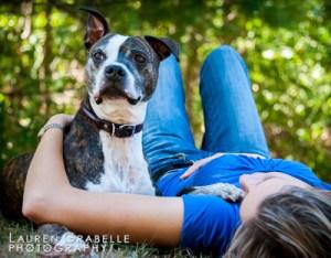 Christy Wrede and Logan dog portrait session