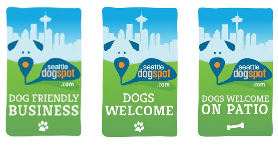 Seattle DogSpot Dog Friendly Business Decals   Seattle, WA