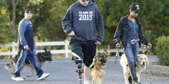 NW Battle Buddies Founder Gives Service Dog to WA Teen Who Lost His Leg