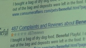 Hundreds of Beneful Complaints can be easily found online.