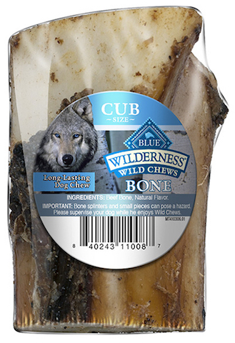 Blue Buffalo announced a voluntary recall for one lot of Wilderness Wild Chews. Image from Blue Buffalo.