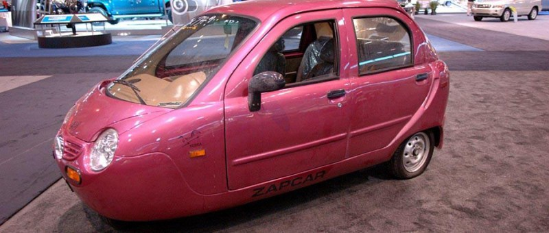 "Image of a 3-wheeled Zap ""Xebra"" NEV"