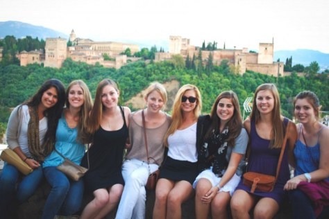 Promotional material for an International Studies Abroad program in Spain reflects the demographics that dominate study abroad overall.