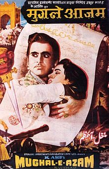 Hindi film poster of Mughal-e-Azam from 1960
