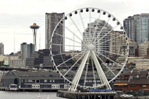 Seattle's newest waterfront attraction -- a 175' Great Wheel