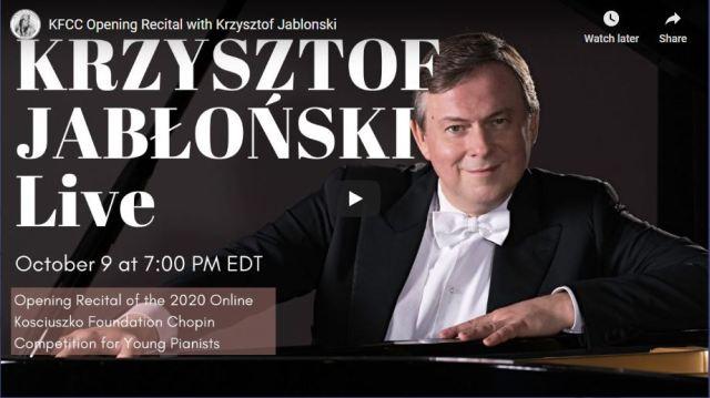 Krzysztof Jabłoński in Chopin Recital