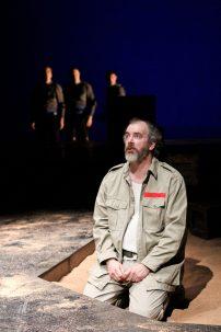 """John Bogar, Matt Shimkus, Nick Rempel, and Charles Leggett in Seattle Shakespeare Company's 2012 production of """"Antony and Cleopatra."""" Photo by John Ulman."""