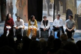 Cast of Romeo and Juliet hosts a post-play talk back.