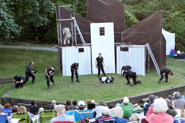 """The cast of Seattle Shakespeare Company's 2013 Wooden O production of """"Henry V."""""""